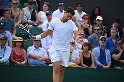 Dominic Thiem (AUT) during his first round match at the 2019 Wimbledon Championships at the AELTC in London, UK on July 2, 2019. Photo by Corinne Dubreuil/ABACAPRESS.COM