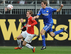 13.03.2011, Bruchwegstadion, Mainz, GER, 1. FBL, FSV Mainz 05 vs Bayer 04  Leverkusen, im Bild Stefan Reinartz (Leverkusen #3) im Zweikampf mit Andre SCHUERRlE (Mainz GER #14), EXPA Pictures © 2011, PhotoCredit: EXPA/ nph/  Roth       ****** out of GER / SWE / CRO  / BEL ******