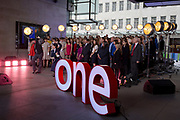 A choir rehearse a Mary Poppins song during an outside broadcast for the One Show at Broadcasting House, on 4th October 2018, in London, England.