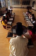 traditional Confucianist village. the new modern school  Seoul  Korea   la nouvelle école toute neuve du village traditionnel confucianniste de  Chonhakdong  coree  ///R20131/    L0006909  /  R20131  /  P104911