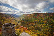 USA, West Virginia. Canaan Valley. Blackwater Canyon as seen from Lindy Point in Blackwater Falls State Park.