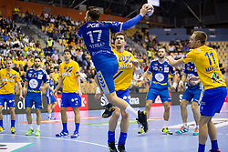 Manuel Strlek of PGE Vive Kielce during handball match between RK Celje Pivovarna Lasko and PGE Vive Kielce in Group Phase A+B of VELUX EHF Champions League, on September 30, 2017 in Arena Zlatorog, Celje, Slovenia. Photo by Urban Urbanc / Sportida