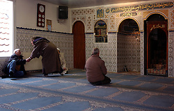 BRUSSELS, BELGIUM - MARCH-20-2005 - Muslims pray at a mosque in Brussels, Belgium. (Photo © Jock Fistick)