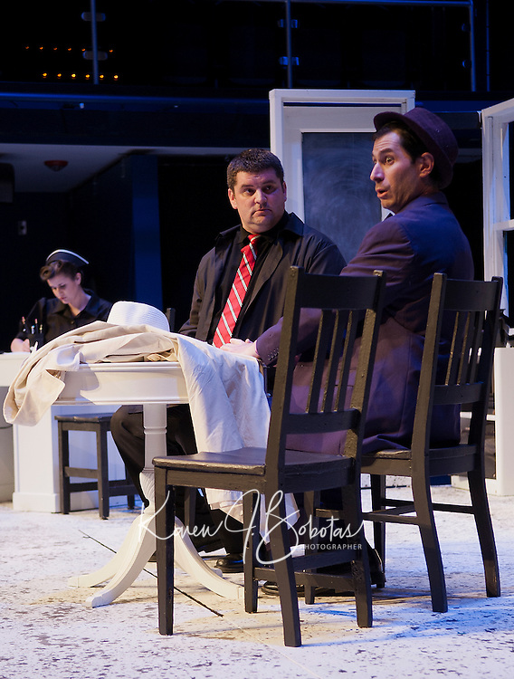 "Winnipesaukee Playhouse dress rehearsal for ""Harvey"" November 5, 2013.  Karen Bobotas/for the Laconia Daily Sun"