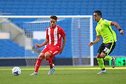 Denis Suárez of Sevilla on the ballduring the Pre-Season Friendly match between Brighton and Hove Albion and Sevilla at the American Express Community Stadium, Brighton and Hove, England on 2 August 2015. Photo by Phil Duncan.
