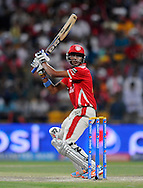 Akshar Patel of the Kings X1 Punjab bats during match 15 of the Pepsi Indian Premier League 2014 Season between The Kings XI Punjab and the Kolkata Knight Riders held at the Sheikh Zayed Stadium, Abu Dhabi, United Arab Emirates on the 26th April 2014<br /> <br /> Photo by Pal Pillai / IPL / SPORTZPICS