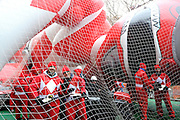 The new Red Mighty Morphin Power Ranger balloon, measuring 77 feet long, 26 feet wide and 56 feet tall, gets ready to fly across the streets of New York at the 88th annual Macy's Thanksgiving Day Parade, Thursday, Nov. 27, 2014. (Photo by Diane Bondareff/Invision for Power Rangers/AP Images)