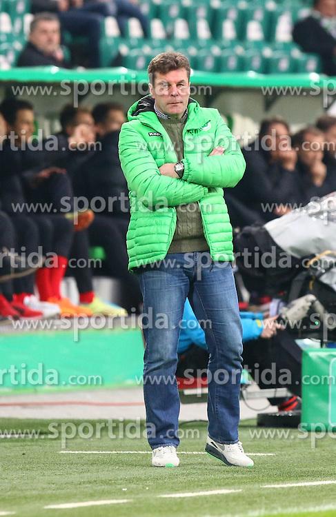 07.04.2015, Volkswagen Arena, Wolfsburg, GER, DFB Pokal, VfL Wolfsburg vs SC Freiburg, Viertelfinale, im Bild Dieter Hecking (Cheftrainer VfL Wolfsburg) // SPO during German DFB Pokal quarter final match between VfL Wolfsburg and SC Freiburgat the Volkswagen Arena in Wolfsburg, Germany on 2015/04/07. EXPA Pictures &copy; 2015, PhotoCredit: EXPA/ Eibner-Pressefoto/ Hundt<br /> <br /> *****ATTENTION - OUT of GER*****