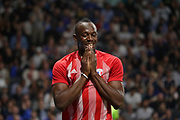 Usain Bolt (FIFA 98) reacted after a goal missed during the 2018 Friendly Game football match between France 98 and FIFA 98 on June 12, 2018 at U Arena in Nanterre near Paris, France - Photo Stephane Allaman / ProSportsImages / DPPI