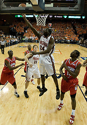Virginia's Mamadi Diane (24) converts two of his career high 26 points against Maryland.  The Cavaliers defeated the #22 ranked Terrapins 103-91 at the John Paul Jones Arena in Charlottesville, VA on January 16, 2007.