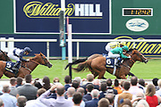 RAVENS LADY (6) ridden by jockey Gerald Mosse and trained by Marco Botti wins The Group 3 William Hill Summer Stakes over  6f (£65,000)at York Racecourse, York, United Kingdom on 13 July 2018. Picture by Mick Atkins.