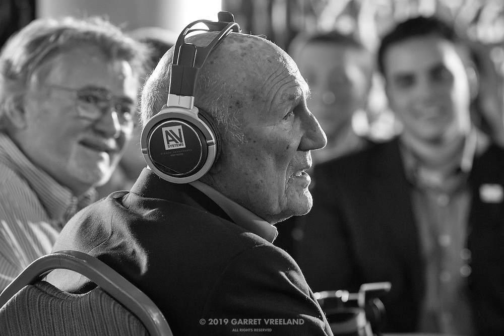 Sir Stirling Moss, Legends of Racing lecture at the Las Campanas Clubhouse, 2013 Santa Fe Concorso.