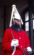 ATBK81 Black male horseguard Whitehall London England