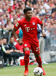18.05.2019, Allianz Arena, Muenchen, GER, 1. FBL, FC Bayern Muenchen vs Eintracht Frankfurt, 34. Runde, im Bild David Alaba Aktion // during the German Bundesliga 34th round match between FC Bayern Muenchen and Eintracht Frankfurt at the Allianz Arena in Munich, Germany on 2019/05/18. EXPA Pictures © 2019, PhotoCredit: EXPA/ SM<br /> <br /> *****ATTENTION - OUT of GER*****