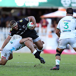 DURBAN, SOUTH AFRICA - MAY 19: Thomas du Toit of the Cell C Sharks during the Super Rugby match between Cell C Sharks and Chiefs at Jonsson Kings Park on May 19, 2018 in Durban, South Africa. (Photo by Steve Haag/Gallo Images)