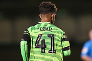 Forest Green Rovers Vaughn Covil(41)  during the Leasing.com EFL Trophy match between Forest Green Rovers and Coventry City at the New Lawn, Forest Green, United Kingdom on 8 October 2019.