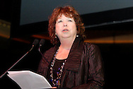 DLPP founder and co-chair Sharon Rab speaks during the 2011 Dayton Literary Peace Prize dinner and awards presentation at the Schuster Center in downtown Dayton, Sunday, November 13, 2011..