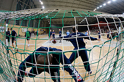 Goalkeepers Aljosa Rezar and Gorazd Skof at Open training session for the public of Slovenian handball National Men team before European Championships Austria 2010, on December 27, 2009, in Terme Olimia, Podcetrtek, Slovenia.  (Photo by Vid Ponikvar / Sportida)