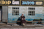 Mongolia. market of Karakorum in winter  hakhorin -    /  marche de  karakorum en hiver  karakorum - Mongolie  /  L0009872