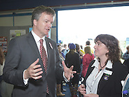 Royal Highland Show 2011. Michael Moore Sec of State for Scotland with Alison Motion RHET Education Manager at the Discovery Centre.