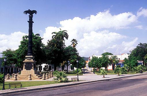 Plaza de zona Colonial, Puerto Cabello, Estado Carabobo, Venezuela.