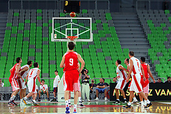 Shot at friendly match between Croatia and Montenegro for Adecco Cup 2011 as part of exhibition games before European Championship Lithuania on August 6, 2011, in SRC Stozice, Ljubljana, Slovenia. (Photo by Urban Urbanc / Sportida)