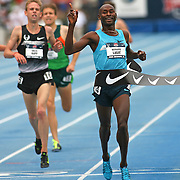 LAGAT - 13USA, Des Moines, Ia.- Bernard Lagat out- kicked Galen Rupp to win a tactical 5,000.   Photo by David Peterson