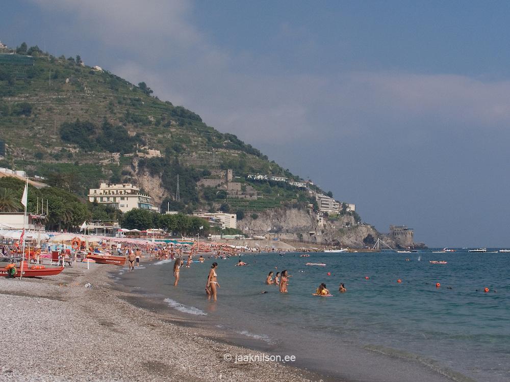 Maiori Beach, Amalfi Coast, Campania, Italy, Europe, World Heritage Site