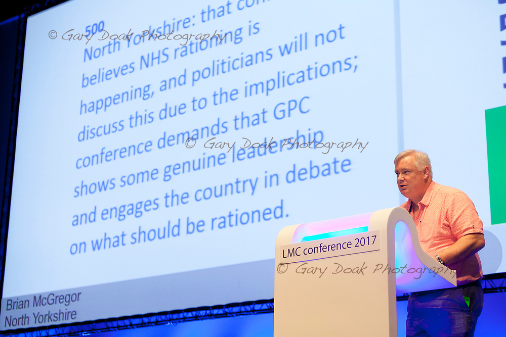 Brian McGregor<br /> BMA LMC's Conference<br /> EICC, Edinburgh<br /> <br /> 18th May 2017<br /> <br /> Picture by Gary Doak
