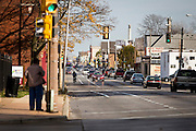 MILWAUKEE, WI - NOVEMBER 17: A view down North Avenue from the intersection of Fond du Lac Avenue on Thursday, November 17, 2016. This avenue lies at the heart of District 15 in Milwaukee, where election results showed a 38% decrease in voter turnout for 2016.