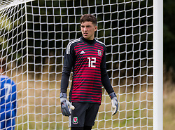 WREXHAM, WALES - Thursday, August 15, 2019: Wales' goalkeeper Kane Draper during the UEFA Under-15's Development Tournament match between Wales and Northern Ireland at Colliers Park. (Pic by Paul Greenwood/Propaganda)