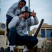 Arizona State Sun Devil players visit with the troops at  Fort Bliss Texas during the week of events for the 84th Annual Hyundai Sun Bowl. December 27, 2017