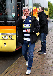 Bristol Rugby fans arrive at Castle Park for the Playoff Final first leg game against Doncaster Knights - Mandatory by-line: Robbie Stephenson/JMP - 18/05/2016 - RUGBY - Castle Park - Doncaster, England - Doncaster Knights v Bristol Rugby - Greene King IPA Championship Play-off Final - First leg