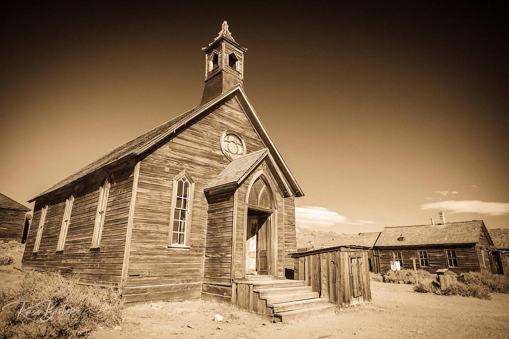 Methodist Church, Bodie State Historic Park, California USA