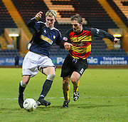 IRN BRU Scottish League First Division<br /> Dens Park, Dundee 29/12/2007<br /> <br /> Kevin McDonald takes on Partick's David Rowson in the move that brought the youngster Dundee's winner<br /> <br /> David Young<br /> <br /> Monifieth<br /> Dundee<br /> <br /> Tel: <br /> Email: davidy233@gmail.com