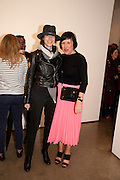 ANNA BLESSMANN; ALICE RAWSTHORN; , David Salle private view at the Maureen Paley Gallery. 21 Herlad St. London. E2. <br /> <br />  , -DO NOT ARCHIVE-&copy; Copyright Photograph by Dafydd Jones. 248 Clapham Rd. London SW9 0PZ. Tel 0207 820 0771. www.dafjones.com.