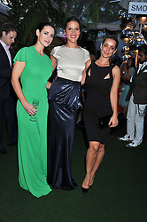 Left to right, KIRSTY GALLACHER, AMANDA BYRAM and LOUISE REDKNAPP at the Glamour Women of The Year Awards 2011 held in Berkeley Square, London W1 on 7th June 2011.