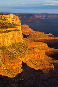 Early morning light on Mather Point on the South Rim of Grand Canyon National Park.