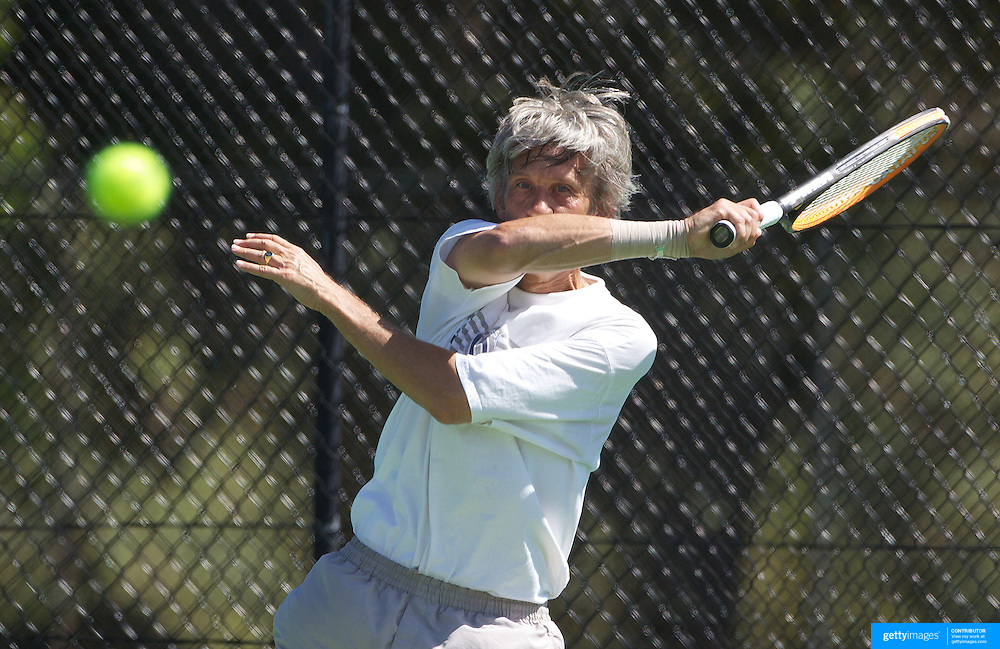 Hans Adama Van Scheltema, Netherlands, winning the 60 Mens Singles Final during the 2009 ITF Super-Seniors World Team and Individual Championships at Perth, Western Australia, between 2-15th November, 2009.