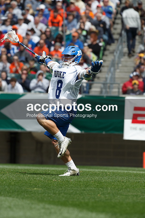 2013 May 25: Josh Dionne #8 of the Duke Blue Devils during a 16-14 victory over the Cornell Big Red in the NCAA semifinals at Lincoln Financial Field in Philadelphia, PA.