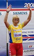 Lucerne, SWITZERLAND. A final  BLR W1X Ekaterine KARSTEN- KHODOTOVITCH, Gold Medalist women's single sculls,  at the  2008 FISA World Cup Regatta, Round 2.  Lake Rotsee, on Sunday, 01/06/2008.   [Mandatory Credit:  Peter Spurrier/Intersport Images].Lucerne International Regatta. Rowing Course, Lake Rottsee, Lucerne, SWITZERLAND.