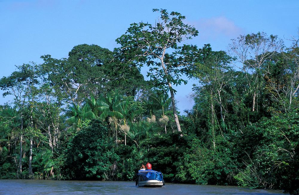 Riverboat along Amazon River, Ilha do Marajo, Amazon Delta, Amazonia, Brazil
