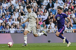 March 16, 2019 - Madrid, Madrid, Spain - Real Madrid's Marco Asensio and Real Club Celta de Vigo's Kevin Vazquez seen in action during La Liga match between Real Madrid and Real Club Celta de Vigo at Santiago Bernabeu Stadium in Madrid, Spain. (Credit Image: © Legan P. Mace/SOPA Images via ZUMA Wire)