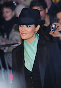 24.NOVEMBER.2011. LONDON<br /> <br /> SALMA HAYEK ATTENDING THE UK PREMIERE OF PUSS IN BOOTS HELD AT THE EMPIRE, LEICESTER SQUARE IN LONDON.<br /> <br /> BYLINE: EDBIMAGEARCHIVE.COM<br /> <br /> *THIS IMAGE IS STRICTLY FOR UK NEWSPAPERS AND MAGAZINES ONLY*<br /> *FOR WORLD WIDE SALES AND WEB USE PLEASE CONTACT EDBIMAGEARCHIVE - 0208 954 5968*