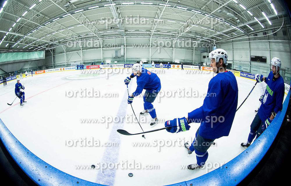 Jan Urbas of Slovenia, Ales Kranjc of Slovenia during practice session of Slovenian Ice Hockey National Team at Day 4 of 2015 IIHF World Championship, on May 4, 2015 in Practice arena Vitkovice, Ostrava, Czech Republic. Photo by Vid Ponikvar / Sportida