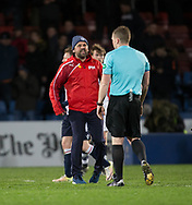 Dundee manager Paul Hartley rages at referee John Beaton at the end - Ross County v Dundee in the Ladbrokes Scottish Premiership at The Global Energy Stadium, Dingwall, Photo: David Young<br /> <br />  - &copy; David Young - www.davidyoungphoto.co.uk - email: davidyoungphoto@gmail.com