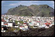 Vestmannaeyjar, pop 5000, on Heimaey Isle, is Iceland's richest fish port; August morn, Westmann Iceland