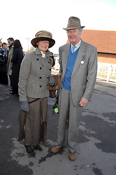 VISCOUNT & VISCOUNTESS MARCHWOOD at the 2007 Hennessy Gold Cup held at Newbury racecourse, Berkshire on 1st December 2007.<br />