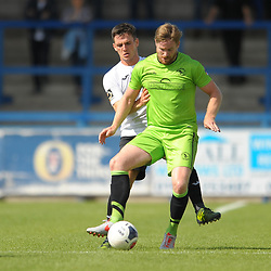 TELFORD COPYRIGHT MIKE SHERIDAN Ross White of Telford  during the National League North fixture between AFC Telford United and Kings Lynn Town at the Bucks Head on Tuesday, August 13, 2019<br /> <br /> Picture credit: Mike Sheridan<br /> <br /> MS201920-009
