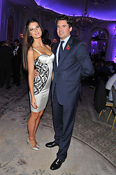 ABI JOHNS and EDWARD TAYLOR at the Quintessentially Foundation poker evening at The Savoy Hotel, London on 30th October 2012.